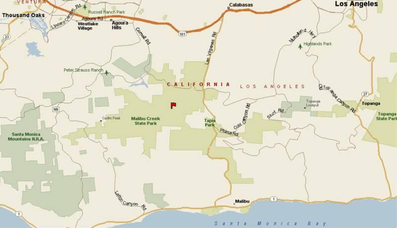 Parkinfo: Malibu State Park Map At Usa Maps